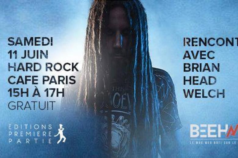 Head de KORN au Hard Rock Café de Paris !