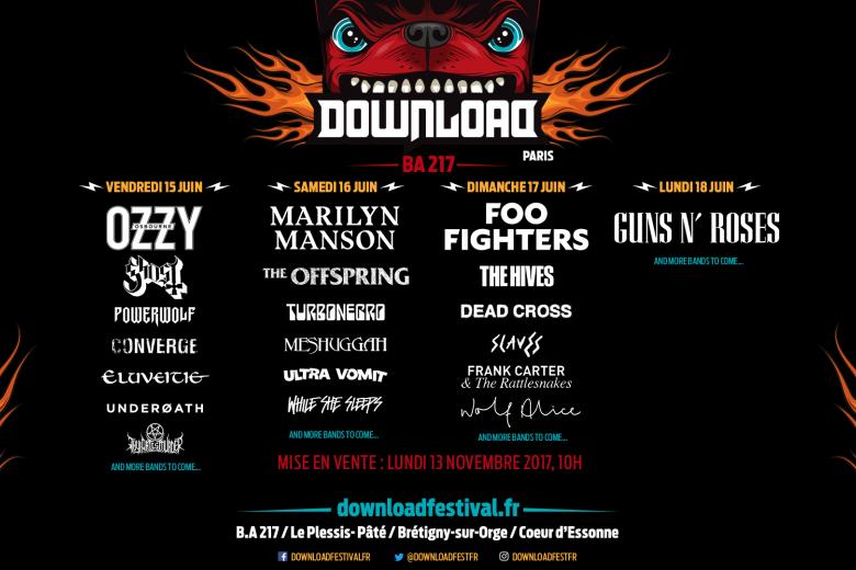Le Download Festival 2018 précise son affiche