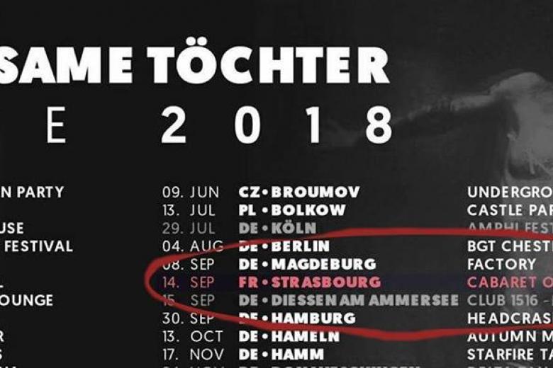 GRAUSAME TÖCHTER en concert à Strasbourg le 14 septembre