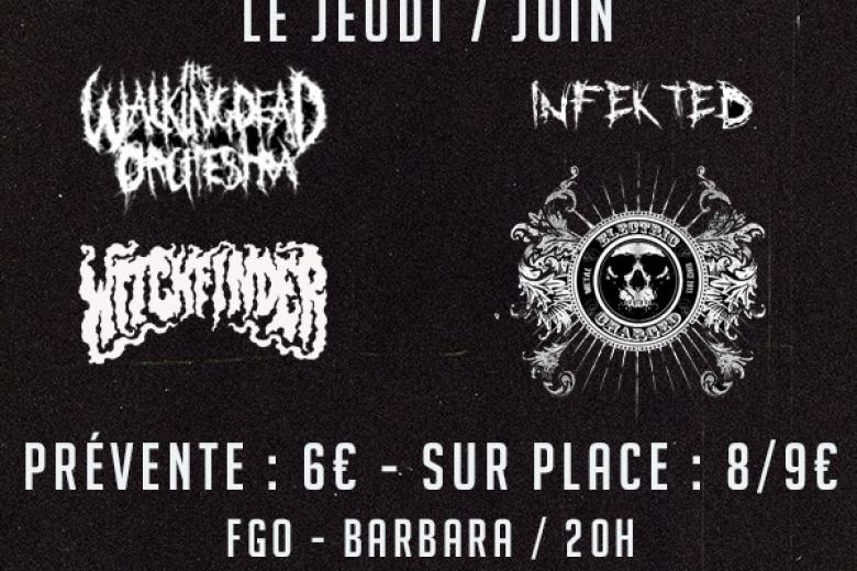 THE WALKING DEAD ORCHESTRA, WITCHFINDER, INFEKTED et ELECTRICCHARGED à Paris