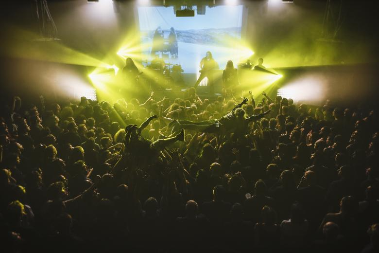 Dark Tranquillity + Equilibrium + Miracle Flair + Red Soil @ CCO Jean Pierre Lachaize - Lyon (08 avril 2018)