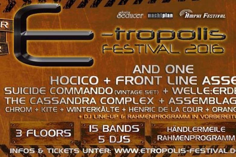 E-Tropolis Festival 2016 - E-Tropolis Festival @ Oberhausen (05 mars 2016)