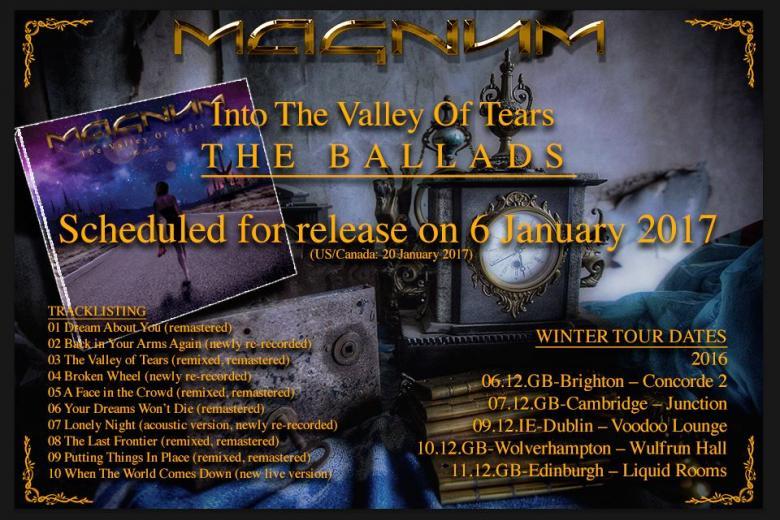 MAGNUM : nouvel album et tournée