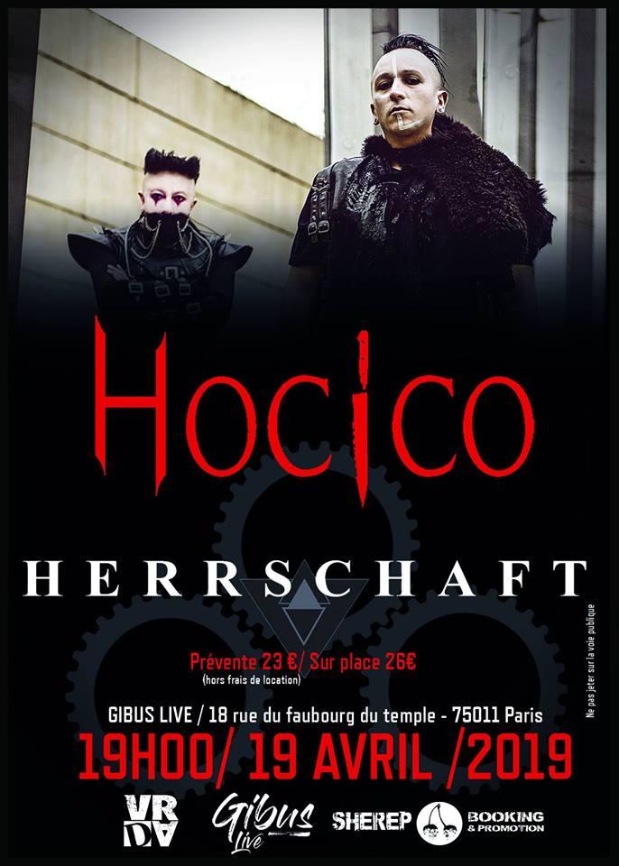 Hocico + Herrschaft @ Le Gibus (Paris) - 19 avril 2019