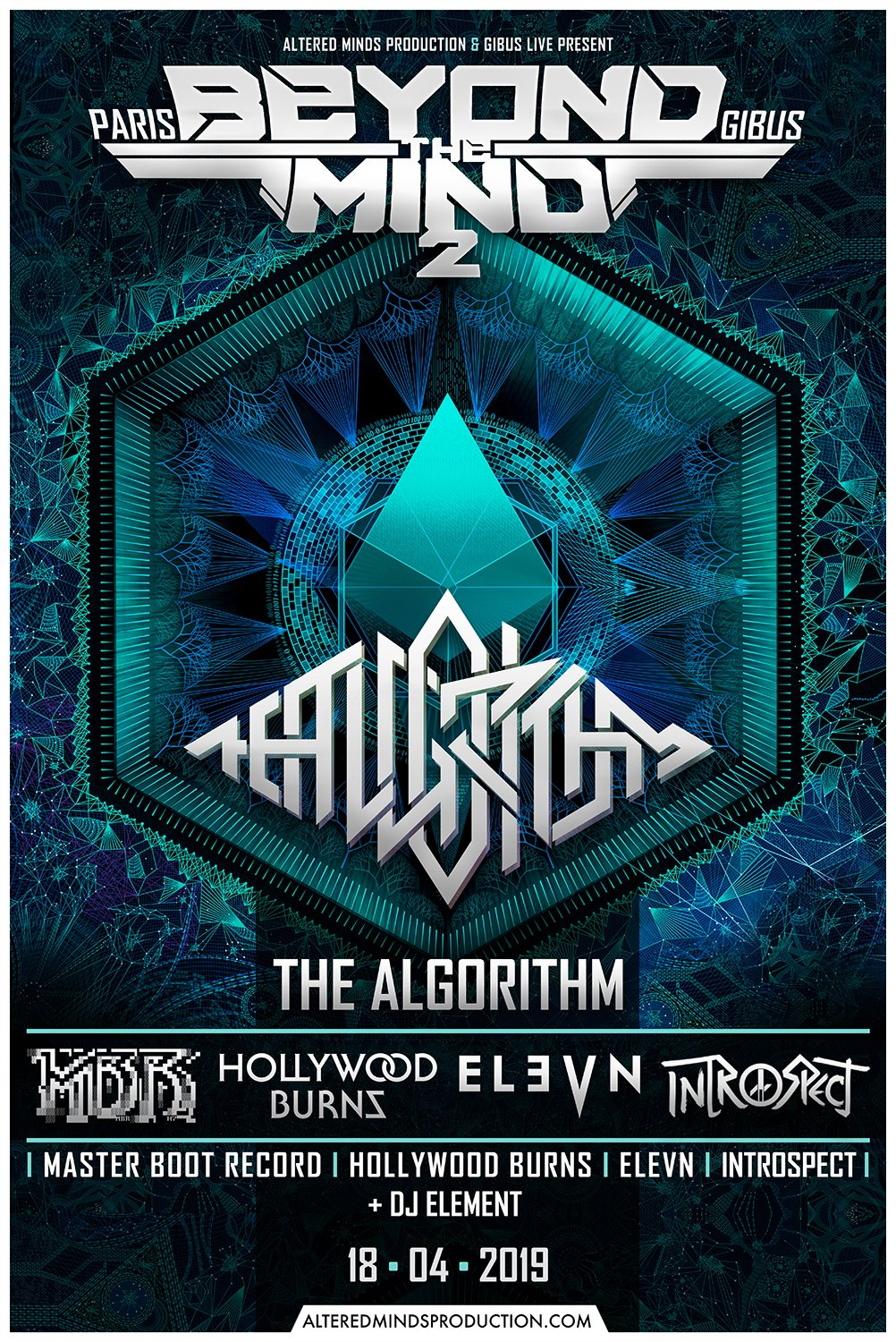 The Algorithm + Elevn + Hollywood Burns + Introspect + Master Boot Record @ Le Gibus (Paris) - 18 avril 2019