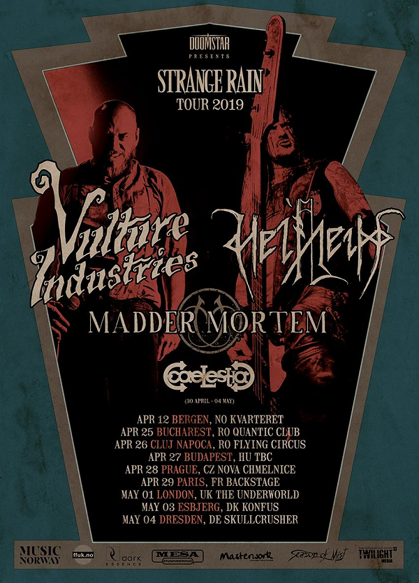 Helheim + Madder Mortem + Vulture Industries @ Backstage by the Mill (Paris) - 29 avril 2019