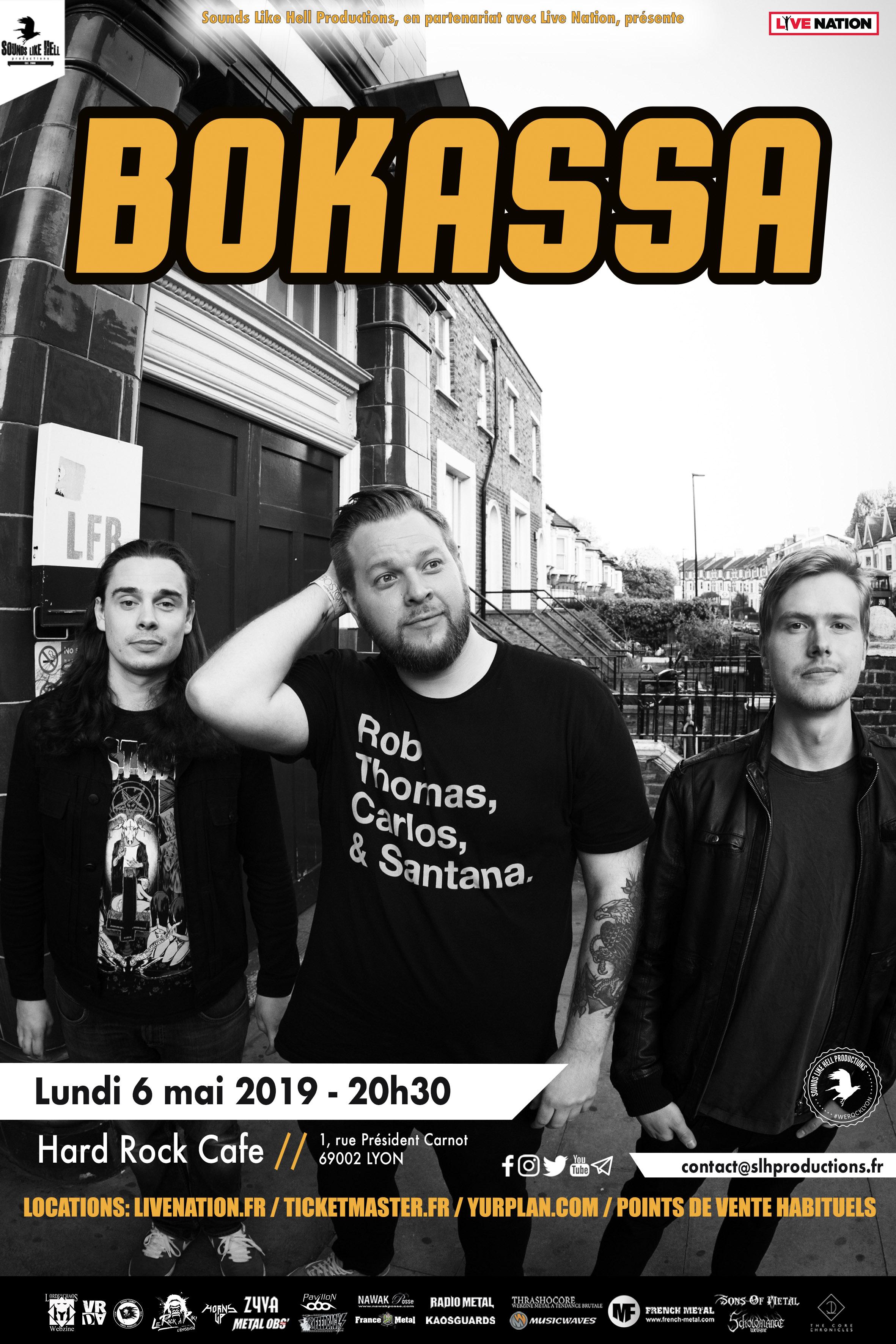Bokassa @ Hard Rock Café (Lyon) - 06 mai 2019