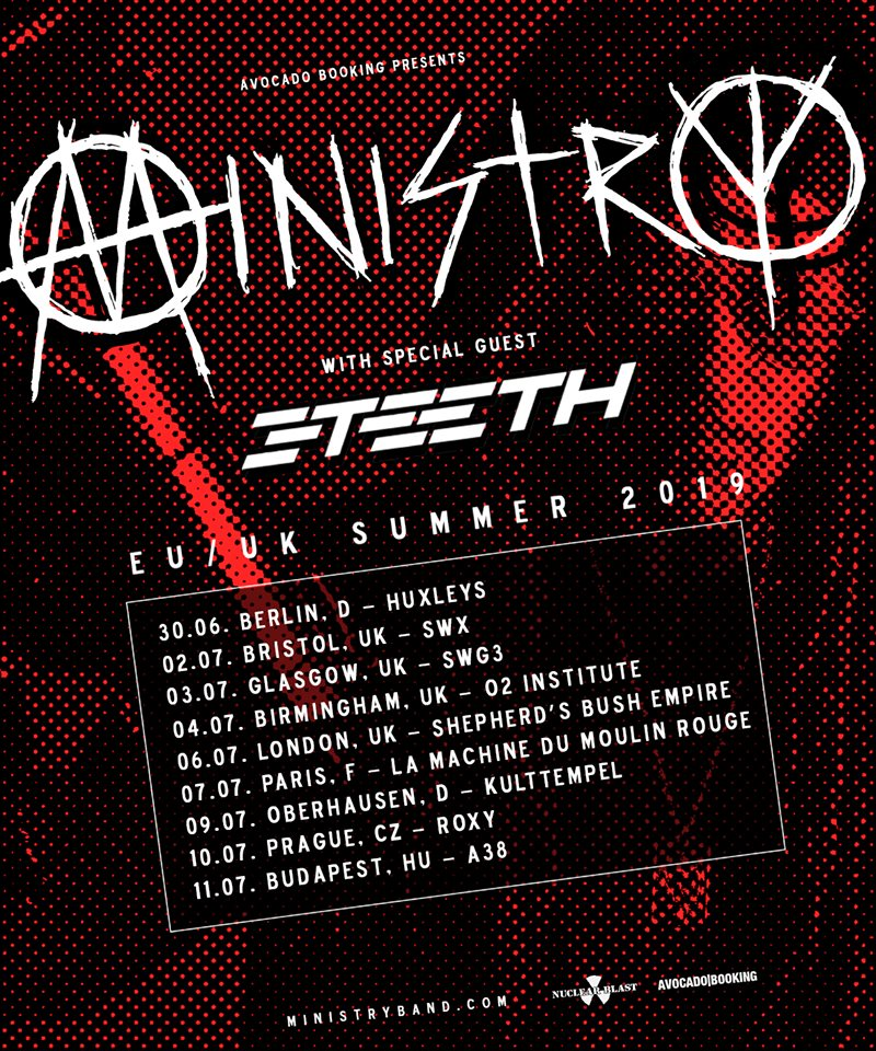 Ministry + 3Teeth @ La Machine (Paris) - 07 juillet 2019