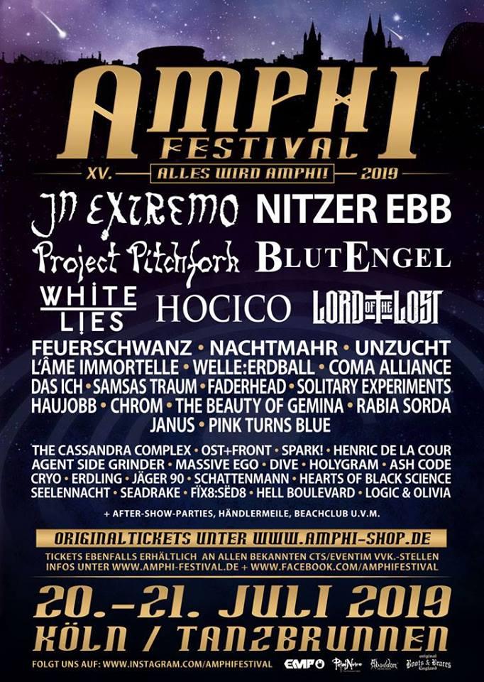 Amphi Festival 2019 @ Tanzbrunnen (Cologne) - 20 juillet 2019