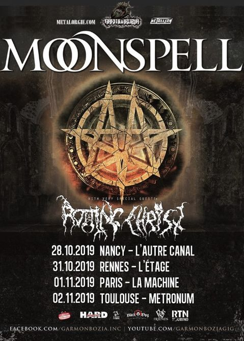 Moonspell + Rotting Christ @ La Machine (Paris) - 01 novembre 2019
