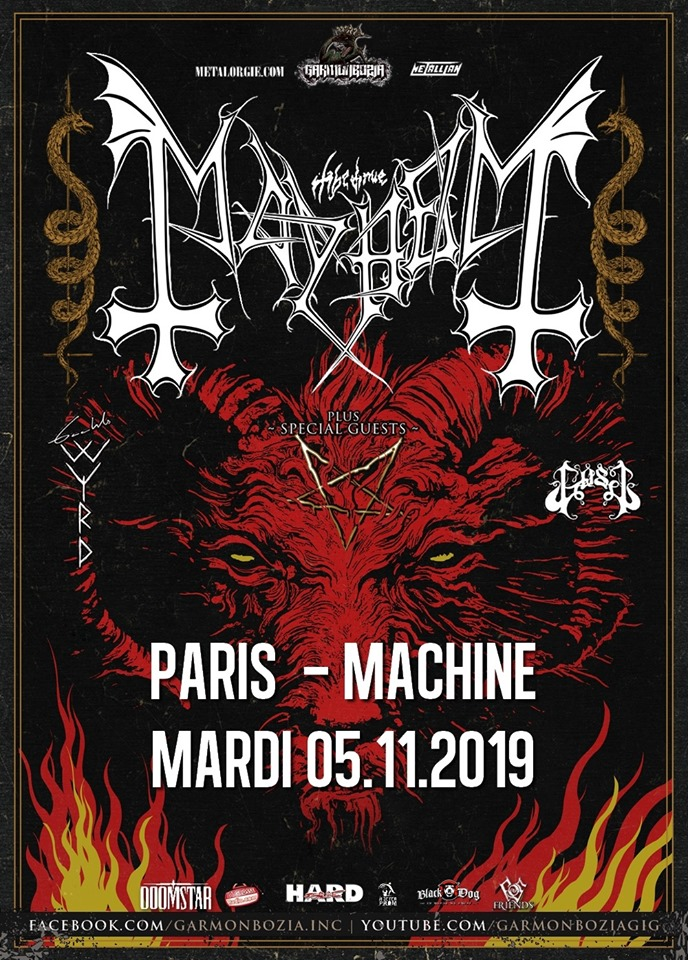 Mayhem + Gaahls Wyrd + GosT @ La Machine (Paris) - 05 novembre 2019