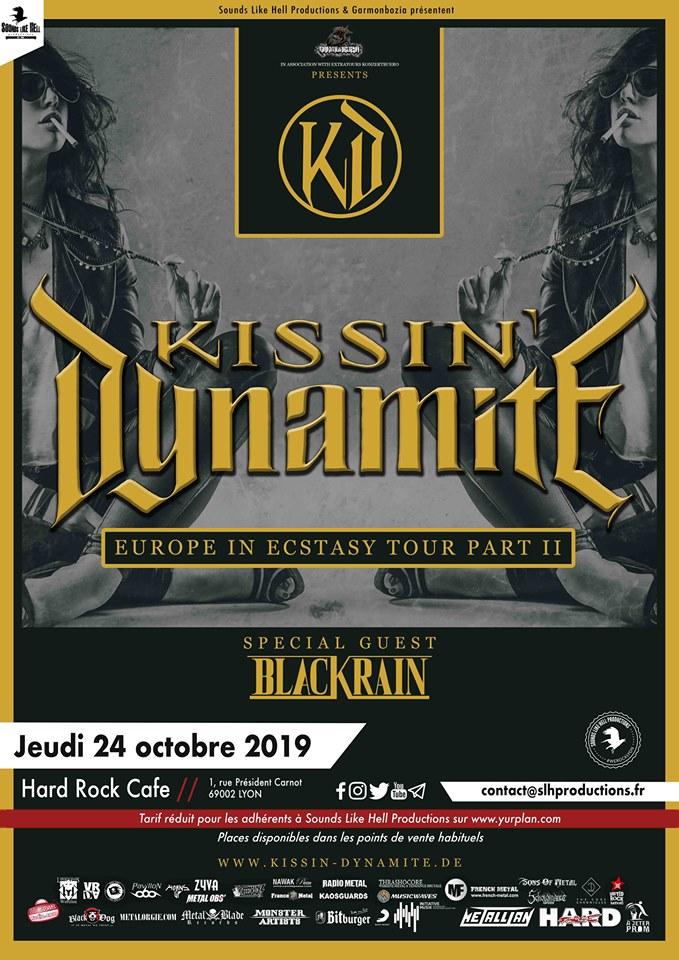 Kissin' Dynamite + Black Rain @ Hard Rock Café (Lyon) - 24 octobre 2019