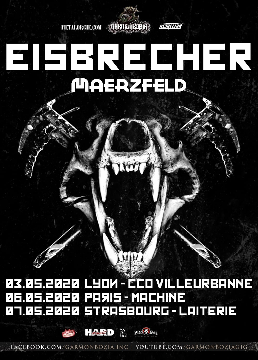 Eisbrecher + Maerzfeld @ La Machine (Paris) - 06 mai 2020
