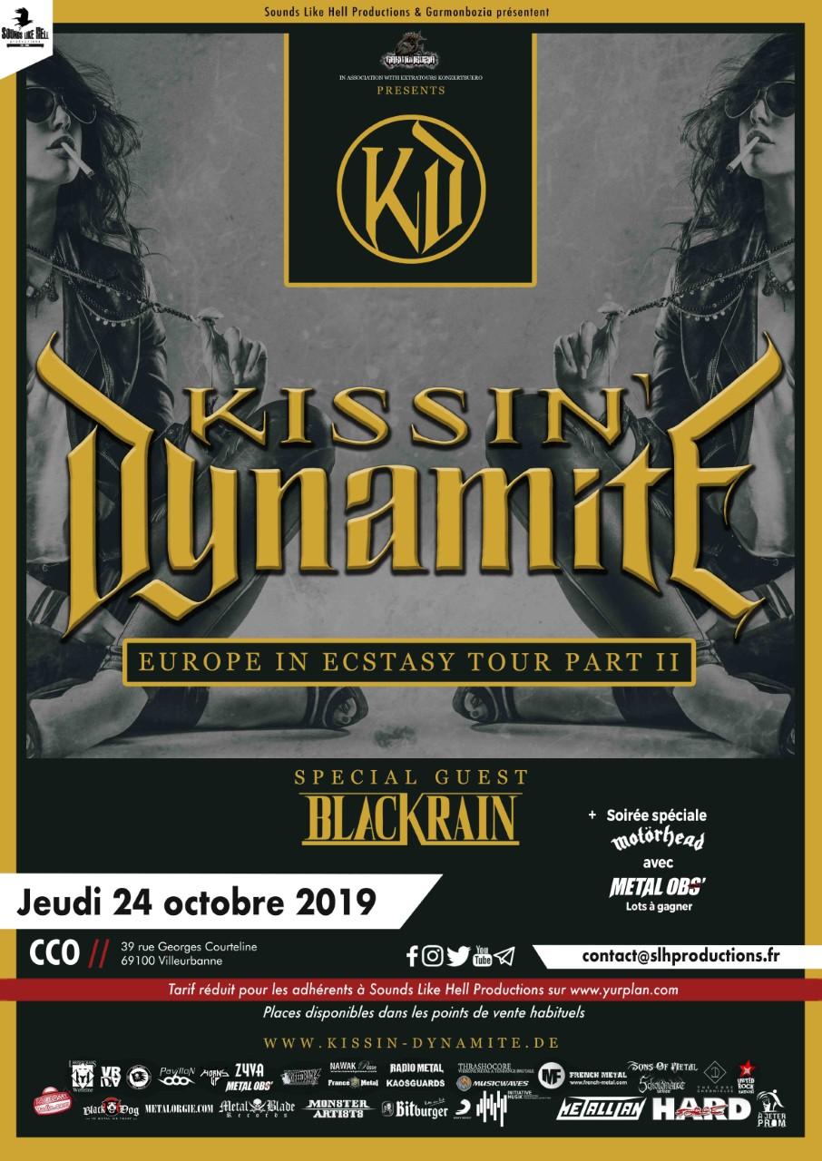 Kissin' Dynamite + Black Rain @ CCO Jean Pierre Lachaize (Villeurbanne) - 24 octobre 2019