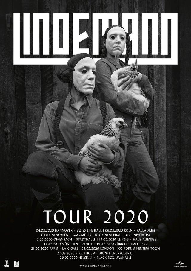 Lindemann + Aesthetic Perfection + JADU @ La Cigale (Paris) - 21 février 2020