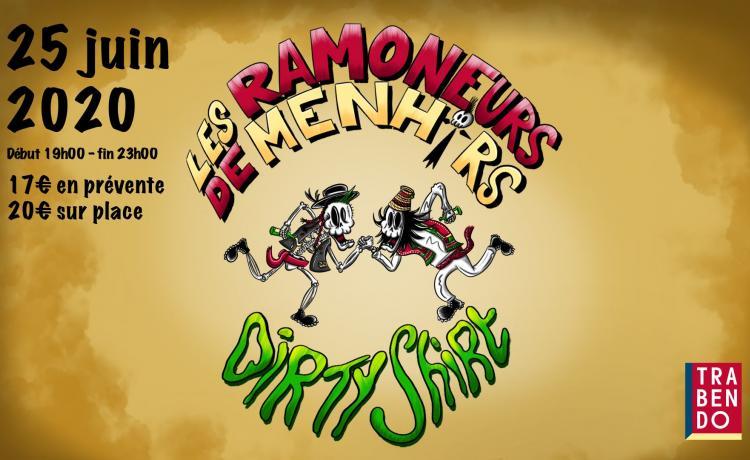 LES RAMONEURS DE MENHIRS et DIRTY SHIRT reviennent à Paris