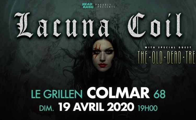 LACUNA COIL et THE OLD DEAD TREE feront griller Colmar
