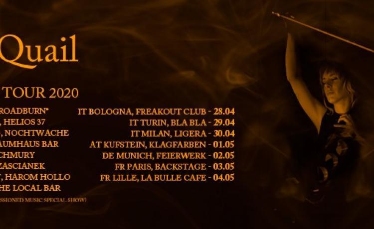 JO QUAIL annonce sa tournée