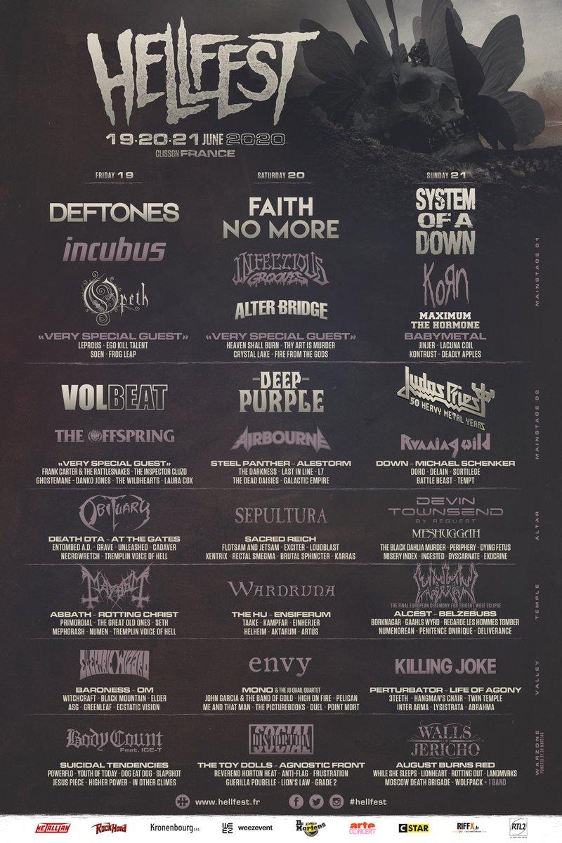 Hellfest Festival 2020 @ Hellfest (Clisson) - 19 juin 2020