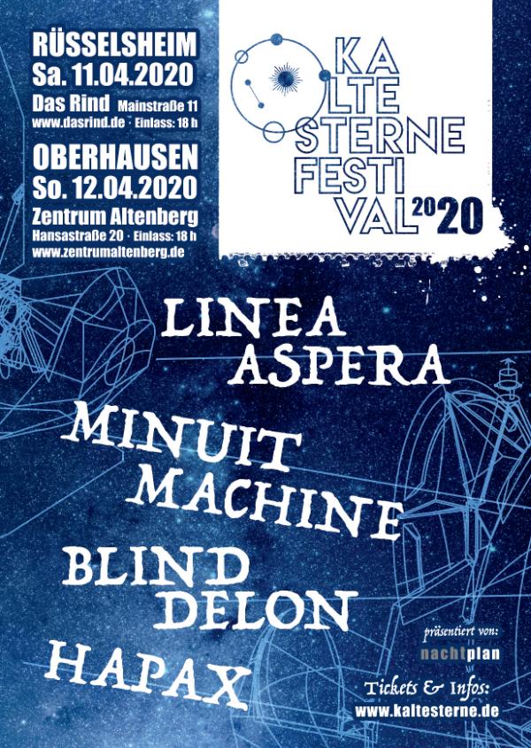 Kalte Sterne Festival 2020 @ Zentrum Altenberg (Oberhausen) - 12 avril 2020
