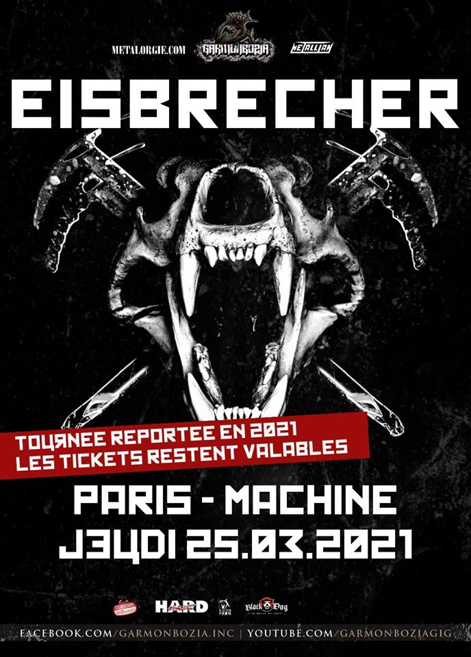 Eisbrecher + Maerzfeld @ La Machine (Paris) - 15 avril 2022
