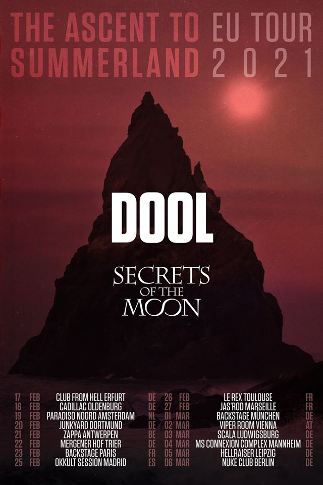 Dool + Secrets of the Moon @ Backstage by the Mill (Paris) - 23 février 2021