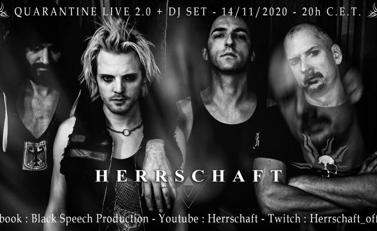 HERRSCHAFT donnera un nouveau concert en streaming