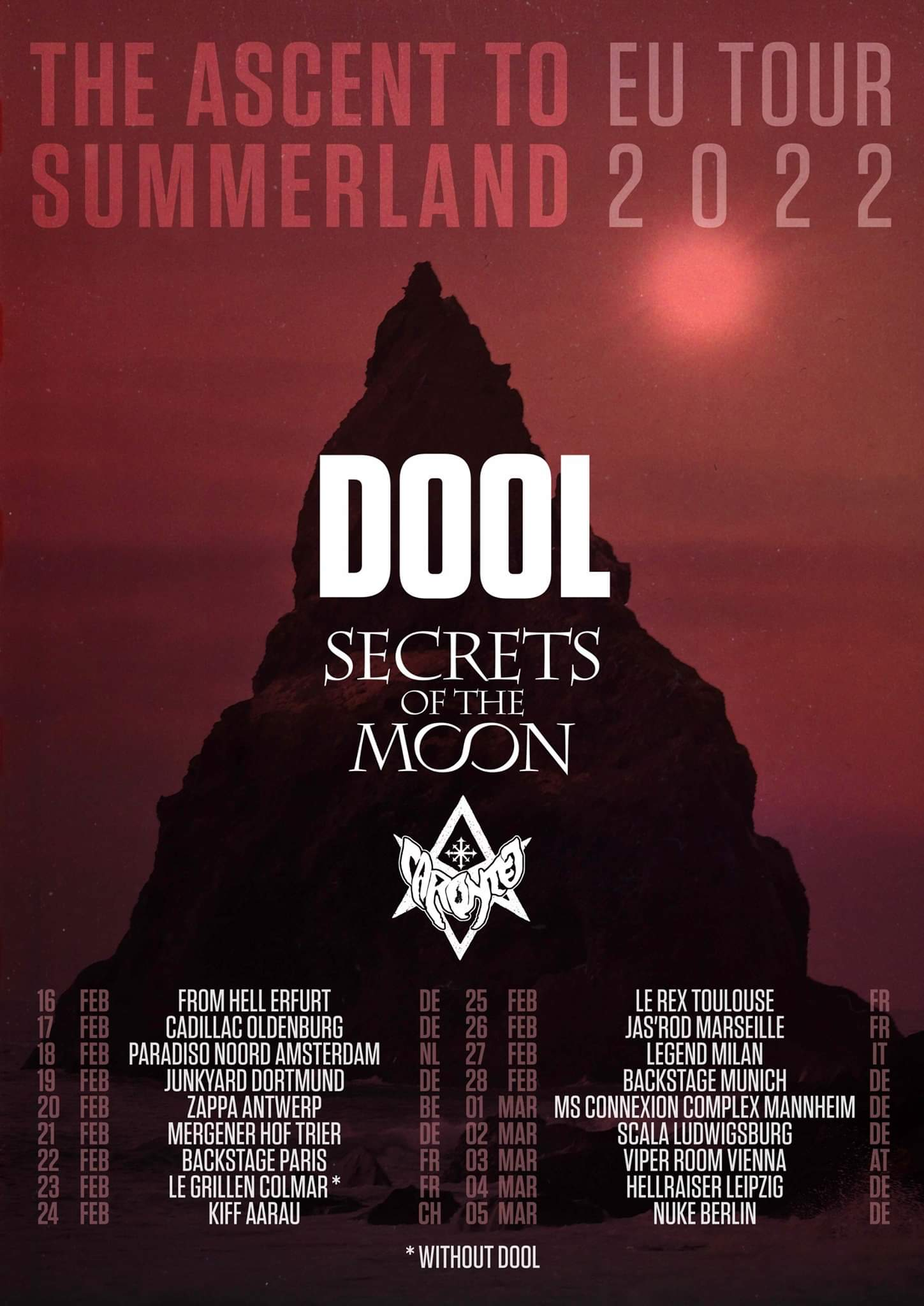 Dool + Secrets of the Moon @ Backstage by the Mill (Paris) - 22 février 2022