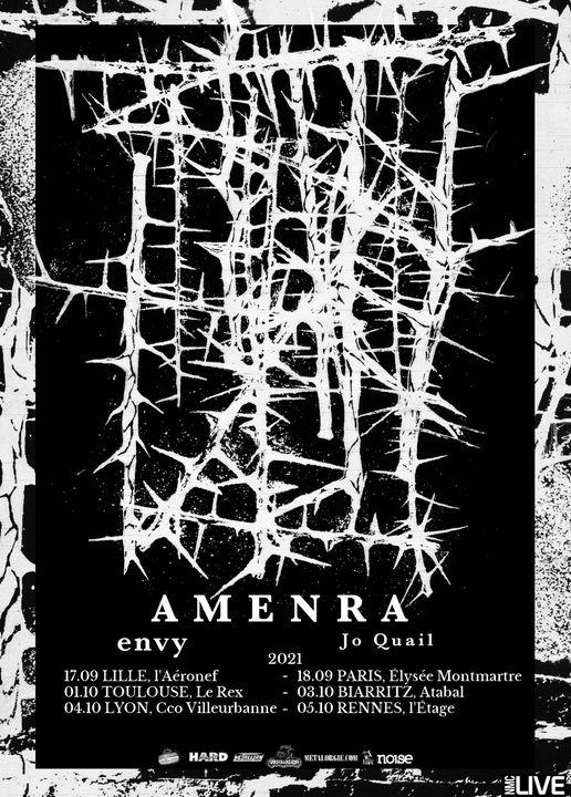Amenra + Envy + Jo Quail @ L'Elysée Montmartre (Paris) - 18 septembre 2021