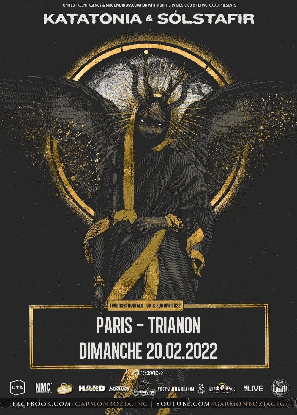 Katatonia + Sólstafir @ Le Trianon (Paris) - 20 février 2022