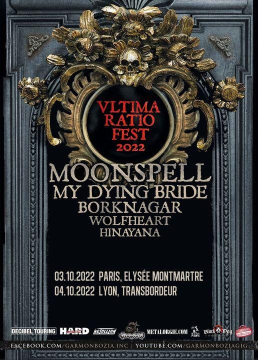 Moonspell + Borknagar + Hinayana + My Dying Bride + Wolfheart @ L'Elysée Montmartre (Paris (75)) - 03 octobre 2022