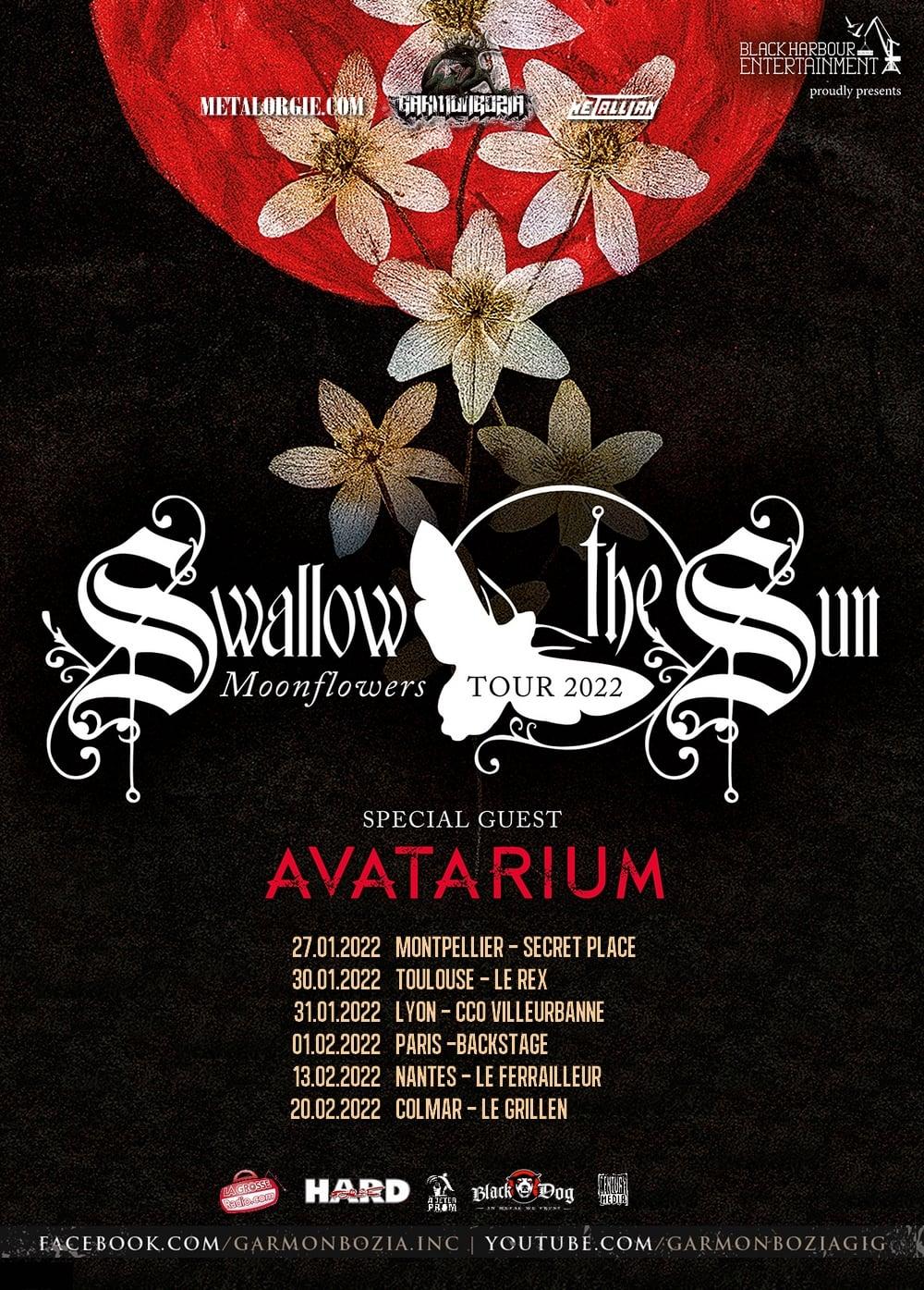Swallow the Sun + Avatarium @ Backstage by the Mill (Paris (75)) - 01 février 2022