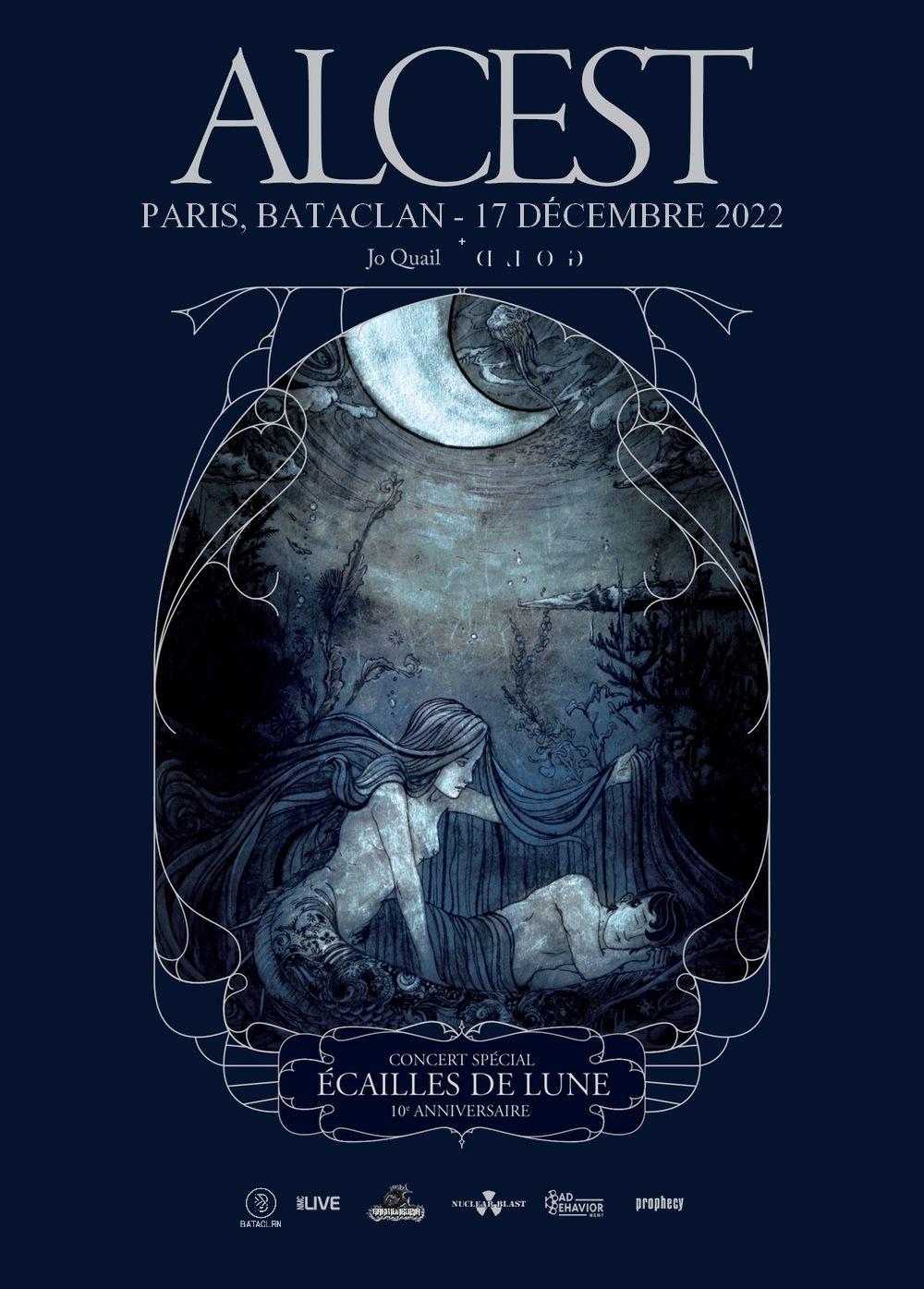 Alcest + Gold + Jo Quail @ Bataclan (Paris) - 17 décembre 2022