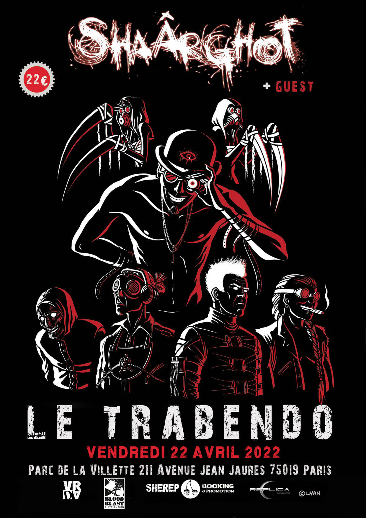 Shaârghot @ Le trabendo (Paris (75)) - 22 avril 2022